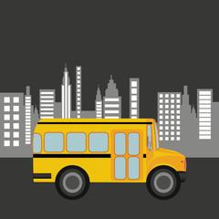 bus school city background graphic vector illustration eps 10