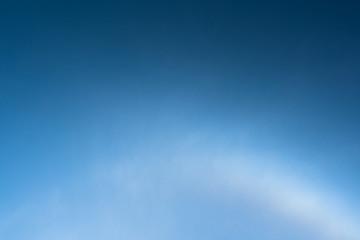 Sun halo effect on blue sky