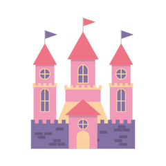 cute castle isolated icon vector illustration design