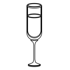 Cup icon. Alcohol drink bar and beverage theme. Isolated design. Vector illustration