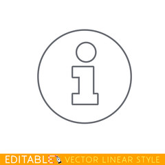 Information symbol. Editable outline sketch icon.