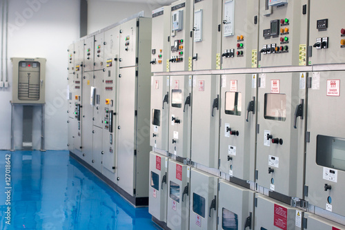 Electrical control cabinet. Electrical power. Motor control ...