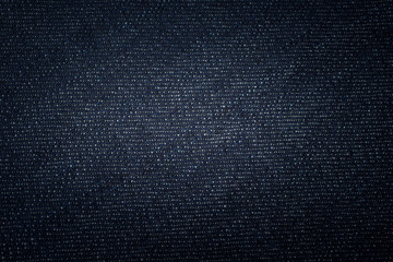 Detail of denim jeans.Denim jeans with dark blue shade. Vintage