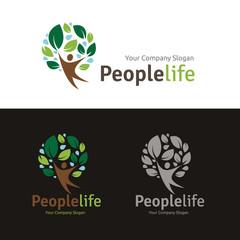 People Life logo, people logo, Creative logo design template.
