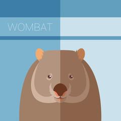 Wombat flat postcard