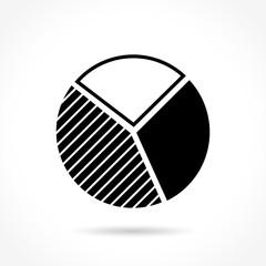 pie icon on white background