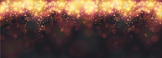 Neujahr / Silvester Hintergrund oder Banner mit Feuerwerk auf einem schwarzen Hintergrund Fototapete