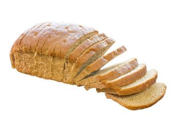 Isolated Homemade Wheat Bread