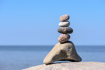 Pinnacle of stones