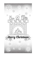 Postcards with elements of snowflakes in line, icon flat, loop, thin, outline.silver color. The symbol of the new year.Glitter. Postcard for congratulations on Christmas. New Year. Line, icon flat,