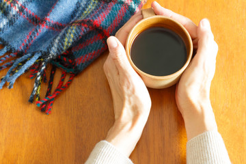 Coffee and blanket