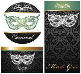 Masquerade ball party invitation posters
