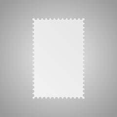 Paper Banner. Vector. Mockup. Postage Stamp