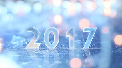 2017 greting and christmas lights