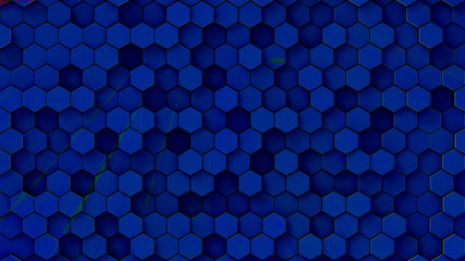 3d rendering colorful hexagon pattern with nice color