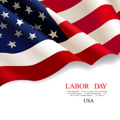 Labor day. Flag USA