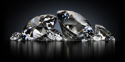Diamonds on a Black Background