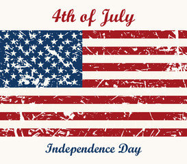 Flag USA. 4th of July. Independence Day Vector Design