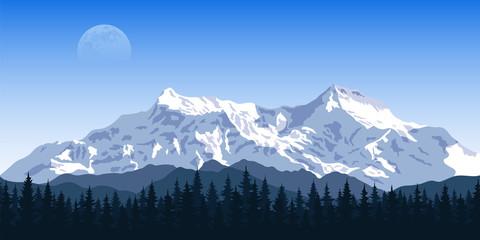 ountain peak landscape