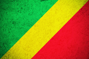Republic of the congo flag ,Congo national flag illustration symbol.