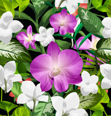 orchid seamless pattern4