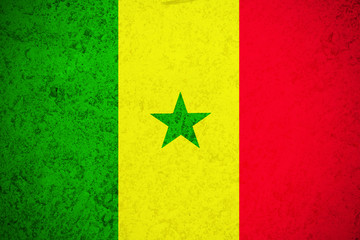 Senegal flag ,Senegal national flag illustration symbol.Circle flag illustration design