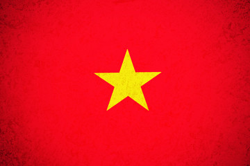 Vietnam flag ,3D Vietnam national flag illustration symbol.