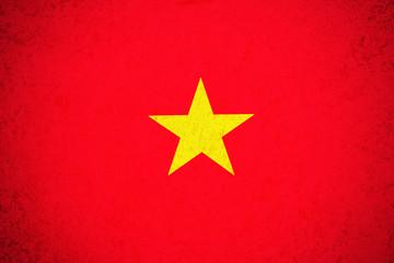 Vietnam flag ,3D Vietnam national flag illustration symbol.