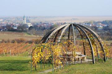 Denkmal für Weinbau bei Oggau im Burgenland