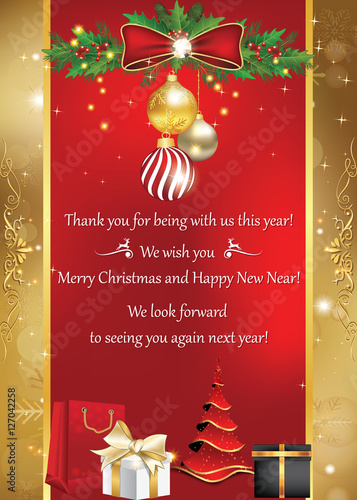 Business card for winter holidays thank you for being with us this business card for winter holidays thank you for being with us this year merry colourmoves