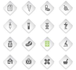 pharmacy icon set