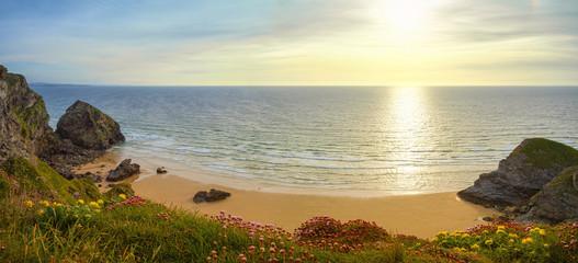 Panorama an der Küste Cornwalls