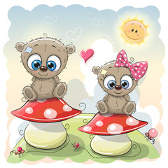 Two Cute Cartoon bears