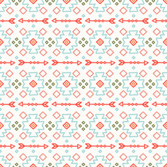 Tribal hand drawn line geometric mexican ethnic seamless pattern. Border. Wrapping paper. Print. Doodles. Vintage tiling. Handmade native vector illustration. Aztec background. Ink graphic texture