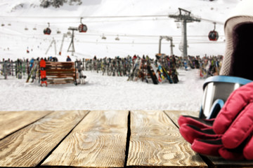 winter space and ski time