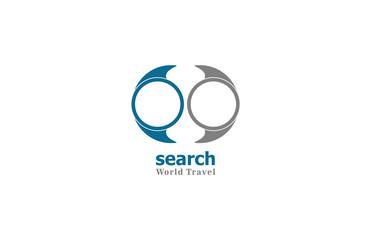 search world travel logo