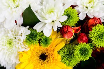 Elegant bouquet of flowers close -up