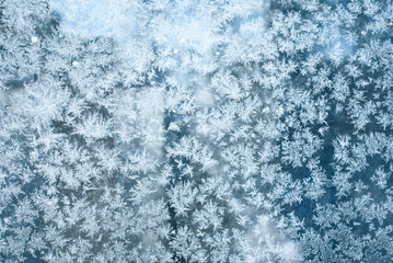 Hoar frost texture background