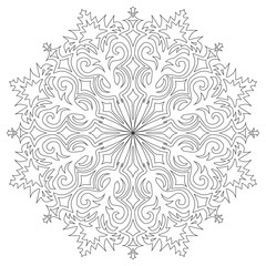 Snowflake on a white background. Vector illustration