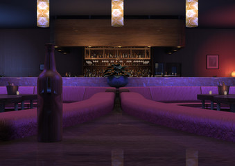 3D Rendering Lounge Bar