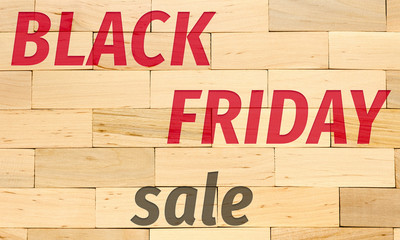 black friday concept sign, text on wooden bricks