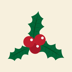 christmas berry. vector illustration.