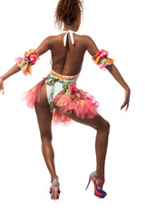 brazilian dancer isolated on white
