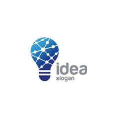 Bulb creative idea logo design vector