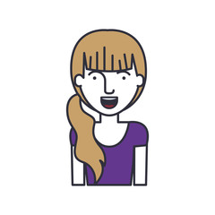 Woman cartoon icon. Female avatar person human and people theme. Isolated design. Vector illustration