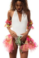 brazilian dancer isolated on white