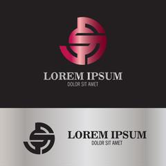 round shape letter S logo