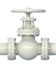 Gas pipe valve 3D illustration