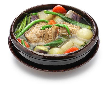 sinigang na baboy ( pork sinigang ), filipino cuisine