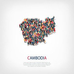 people map country Cambodia vector